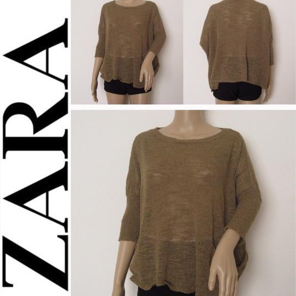 8b823242 Zara Tops | Knit Knit Italian Yard Wing Sweater Top | Poshmark